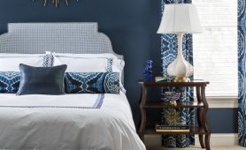 Roxanne Lumme Interiors Blue Bedroom