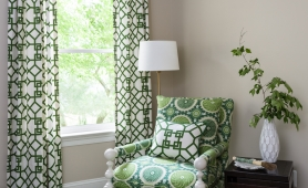 Roxanne Lumme Interiors Green Bedroom